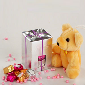 Mix chocolates with teddy